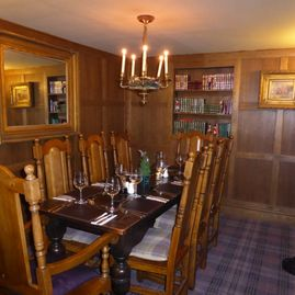 New oak dining room for upto eight people
