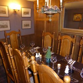 Dining in the new oak room